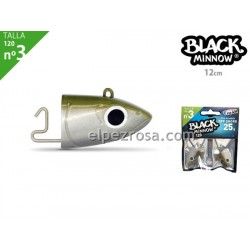 Black Minnow 120 - 2 Off Shore jighead - 25g - Kaki