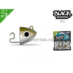 Black Minnow 120 - 2 Off Shore Jighead - 25g -kaki