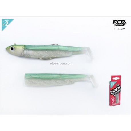 BlacBLACK MINNOW 90Green Glitter