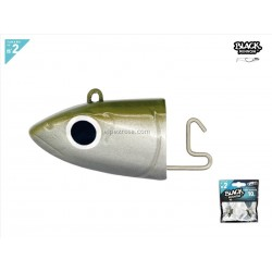 Black Minnow 90 - 2 Off Shore jig head - 10g - kaki
